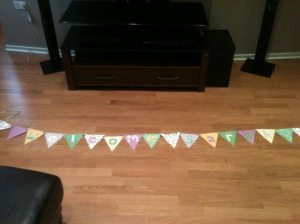 This banner hung in their living room for three months before moving to the baby's room. So glad they loved it!