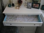 Pinterest Challenge: Map-lined drawer