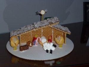 Pro Winner Shannon's Nativity (she's an architect, but this is her first win and she was beyond excited. She even had her husband come back and pick it up so it could be there for the judging, and it apparently is still on their coffee table)
