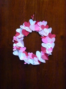 Valentines Paper Heart Wreath 1