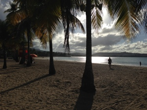 The beautiful beach at Luquillo