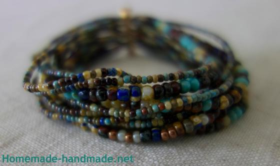 multistrand bracelet sharp fade